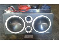 vibe black box 3200w subwoofer and amplifier 3000 full set