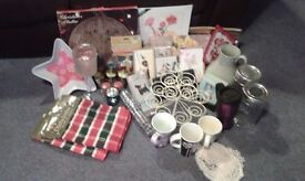 Variety of items suitable for selling at a car boot sale