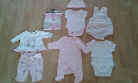 Early Baby Girls Clothes Bundle (3.4kg/7.5lb)