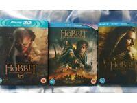 Hobbit trilogy, bluray