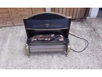 Log effect electric bar heater
