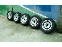 Jaguar alloy's XJ6 / XJ8 type 5 good alloys and nearly new tyres 225/60R