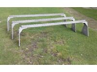 STRONG GALVANIZED VAN ROOF BARS SET OF 3 LONG WHEEL BASE VAN FULLY ADJUSTABLE GREAT CONDITION