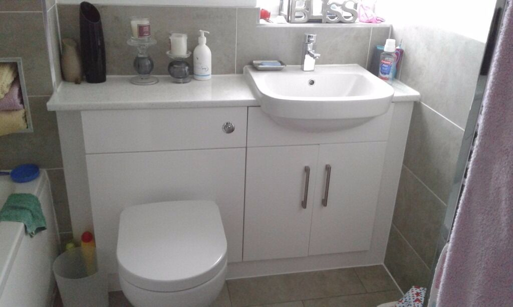 wickes vienna white bathroom vanity 600mm and wc unit 600mm