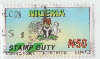 Nigeria Africa Revenue Fiscal stamp 7-25-21-