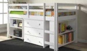 Selling lowline bunk bed/white loft beds Willmot Blacktown Area Preview