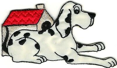 (Dalmatian Dog w/ Kennel Embroidery Patch)