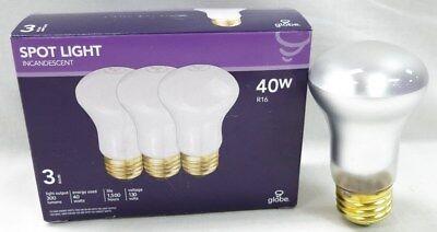 Case of 18  Incandescent Spotlight Light Bulb  R16 - 130 v 40 Watt by -