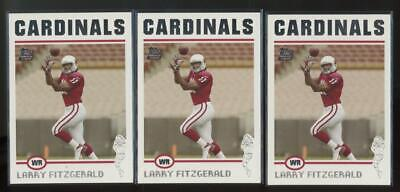 2004 Topps #360 Larry Fitzgerald RC Rookie Lot of 3
