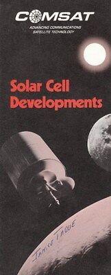 Comsat Satellite Technology Solar Cell Clarksburg Md