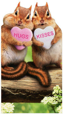 Avanti Chipmunk Hearts Cute Little Big Funny Die Cut Valentines Day Card](Big Valentines Day Cards)