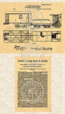 Westinghouse Air Brake Patent   Train Brakes 1876  609