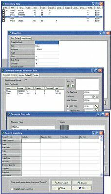 Point Of Sale Pos Invoicing Inventory Staff Info Tracking Software Bundle Cd
