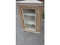 Victorian pine corner cabinet
