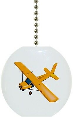 Yellow Airplane Solid CERAMIC Ceiling Fan Light Lamp Pull Airplane Ceiling Fan Pull