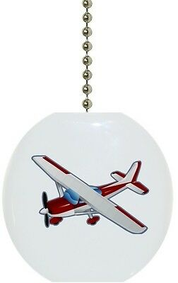 Red Airplane Solid CERAMIC Ceiling Fan Light Lamp Pull Airplane Ceiling Fan Pull