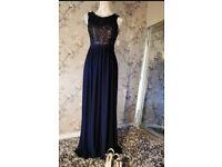 Size 4+ size 8 navy formal dress