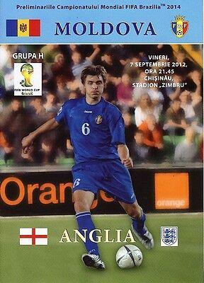 MOLDOVA v England (World Cup Qualifier) 2012
