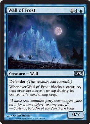 2x MTG: Wall of Frost - Blue Uncommon - Magic 2014 - M14 - Magic Card