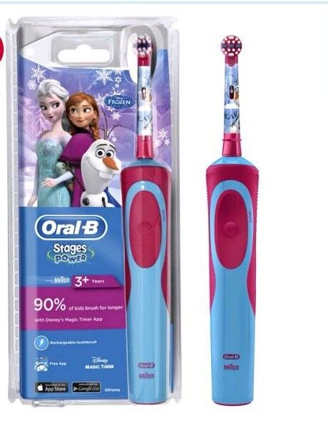 Oral-B Vitality Kids Frozen Electric Toothbrush Powered by Braun