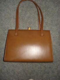 Brown Leather Retro Handbag by Debroyal