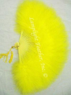 Feather Fan Marabou Yellow per Each