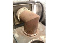 "Wanted boiler or stove flue 90 degree bend 5"" steel vitreous enamel"