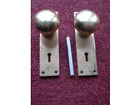 Brass Door Handle (Nob)