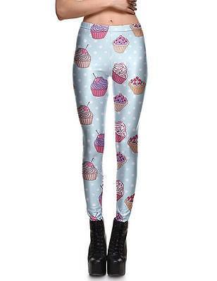 Women Sexy leggings Ice cream printed legging S-4XL elastic legging 3706 - Sexy Ice Cream