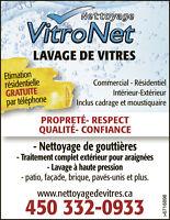 Lavage de vitres // Nettoyage de gouttières