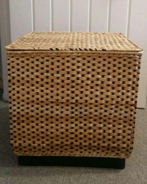 IKEA wicker laundry basket with lid good condition great for storage