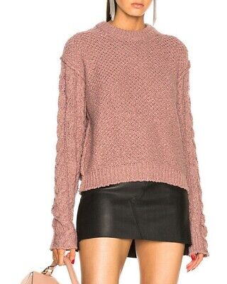 Acne Studios Hila Cable Knit Sweater Dusty Pink size XS #A440
