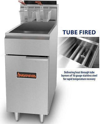 Sierra Srf4050 114000btu Commercial 50lb Tube-fired Gas Deep Fryer Brand New