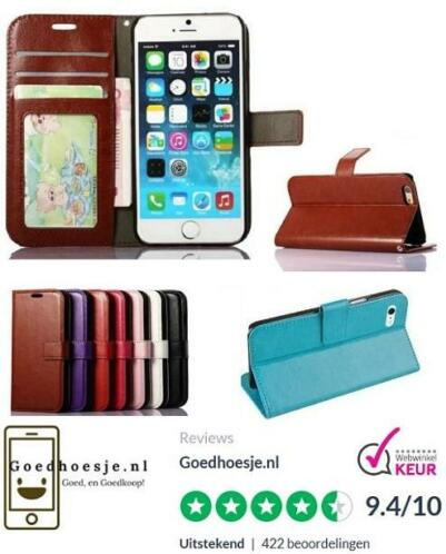 Iphone 5 / 6 / 6S PU Leren Portemonnee Leather Wallet Hoesje