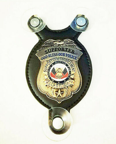 God Bless our officers - Salute our Heroes Supporter police car shield -FOP –PBA