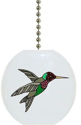 Hummingbird Fan Pull - Hummingbird Bird Solid CERAMIC Ceiling Fan Light Lamp Pull