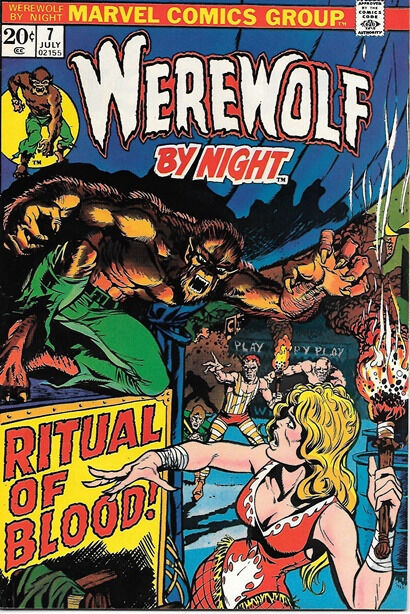 Werewolf By Night Comic Book #7, Marvel Comics 1973 VERY FINE+