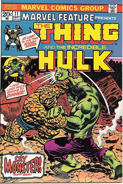 Marvel Feature Comic Book #11 The Thing Marvel Comics 1973 VERY FINE+