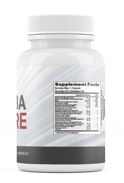 Diaba Core Blood Sugar and Glucose Support Supplement - 60 Capsules  2