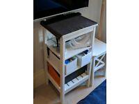 IKEA Hemnes Shelving Unit - white - half-height