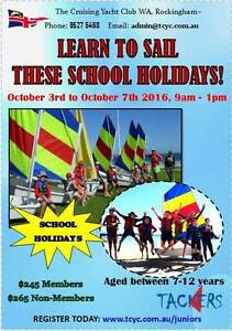 School Holiday Learn to Sail at The Cruising Yacht Club of WA Rockingham Rockingham Area Preview