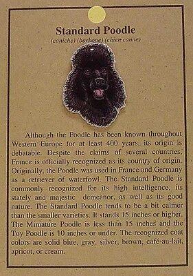 HAT PIN LAPEL PINS STANDARD POODLE DOG
