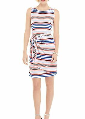 Women's NWT The Limited Sleeveless Sarong Tie Dress Melbourne Stripe Size -