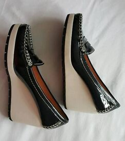 Geox shoes-black patent, size 38