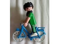 Playmobil Polizei officer on bicycle
