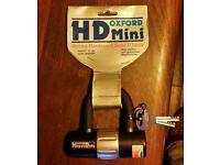 Oxford hd mini strong hardened steel u lock