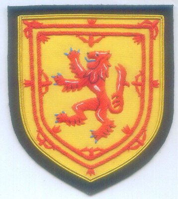 Royal Scottish Scotland Clan Kingdom Lion Rampant Crest Heraldry UK Patch