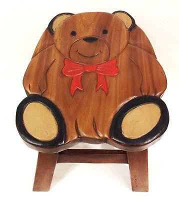 FOOTSTOOLS - TEDDY BEAR WOODEN FOOTSTOOL - FOOT STOOL ()