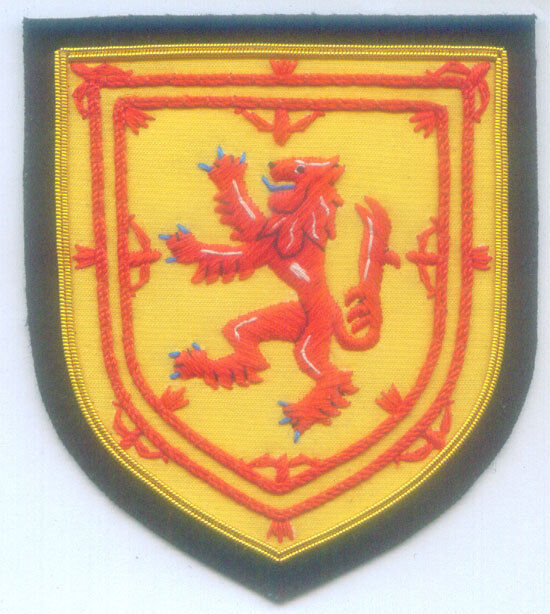Royal Scottish Scotland Scots Clan Kingdom Lion Rampant Crest Heraldry UK Patch