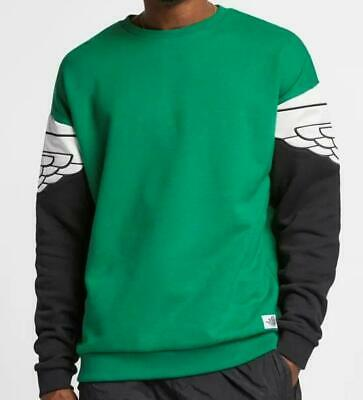 AIR JORDAN WINGS CLASSIC CREW SWEATSHIRT AO0426 302 PINE GREEN/BLACK/IVORY WHITE Air Wing Crew Sweatshirt